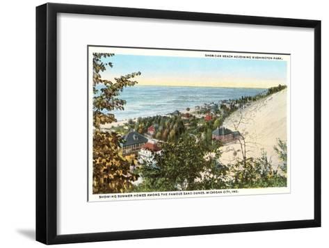 Sheridan Beach, Michigan City, Indiana--Framed Art Print