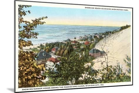 Sheridan Beach, Michigan City, Indiana--Mounted Art Print