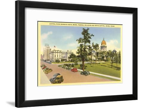 State Capitol, Boise, Idaho--Framed Art Print