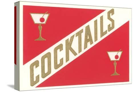 Cocktails, Gibsons--Stretched Canvas Print
