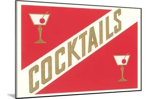 Cocktails, Gibsons--Mounted Art Print