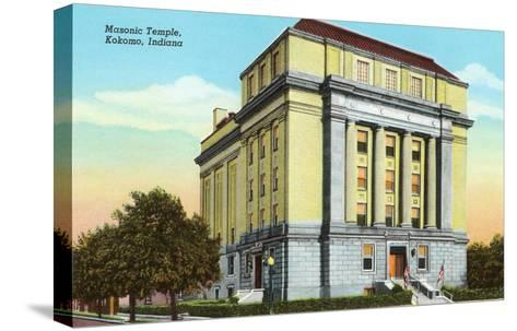 Masonic Temple, Kokomo, Indiana--Stretched Canvas Print