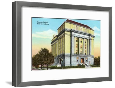 Masonic Temple, Kokomo, Indiana--Framed Art Print