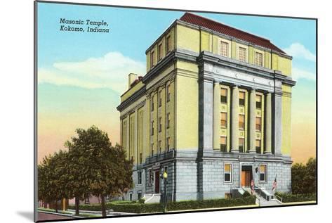 Masonic Temple, Kokomo, Indiana--Mounted Art Print