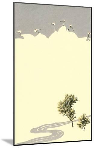 Cranes and Pines--Mounted Art Print