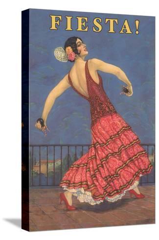Fiesta! Vintage Flamenco Dancer--Stretched Canvas Print