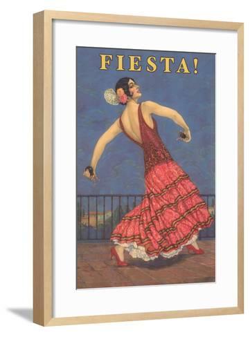 Fiesta! Vintage Flamenco Dancer--Framed Art Print