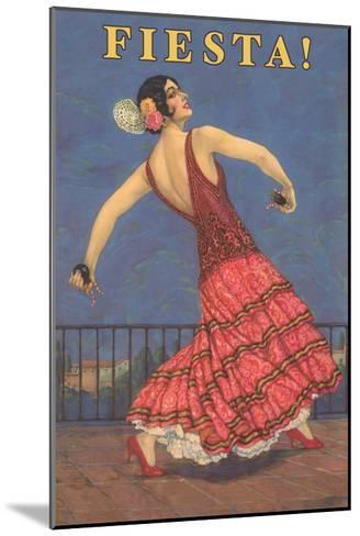 Fiesta! Vintage Flamenco Dancer--Mounted Art Print