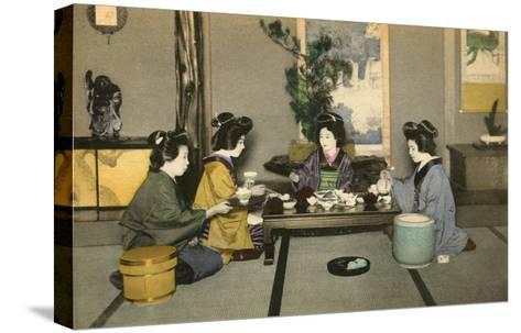 Geishas and Tea Ceremony--Stretched Canvas Print