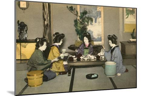 Geishas and Tea Ceremony--Mounted Art Print