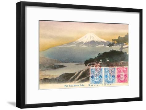 Fuji from Motosu Lake, Japan--Framed Art Print