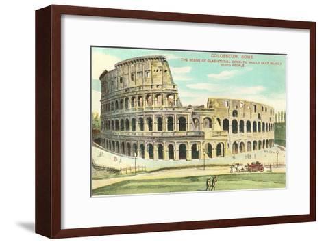 Colosseum, Rome, Italy--Framed Art Print