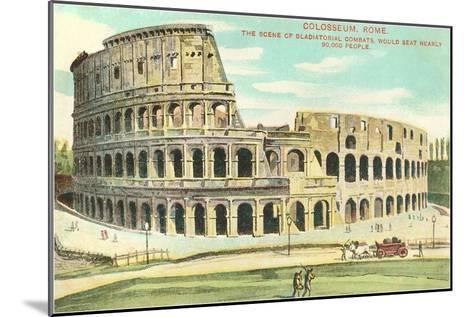 Colosseum, Rome, Italy--Mounted Art Print