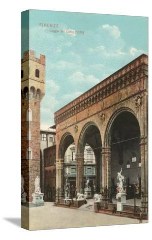 Lanzi Loggia, Florence, Italy--Stretched Canvas Print