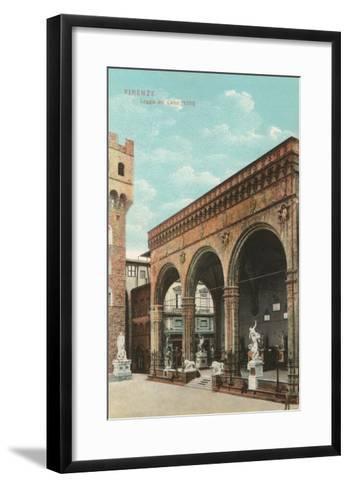 Lanzi Loggia, Florence, Italy--Framed Art Print