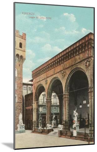 Lanzi Loggia, Florence, Italy--Mounted Art Print