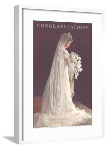 Congratulations, Bride in Gown--Framed Art Print