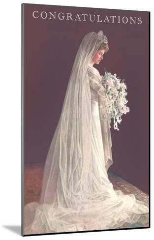 Congratulations, Bride in Gown--Mounted Art Print
