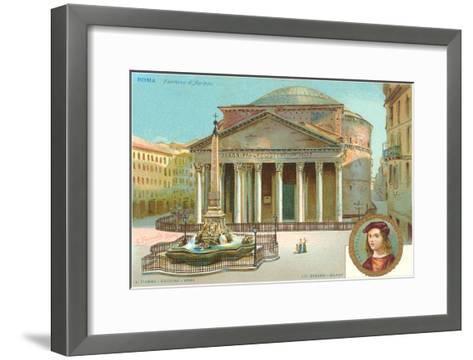 Pantheon, Rome, Italy--Framed Art Print