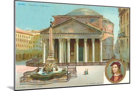 Pantheon, Rome, Italy--Mounted Art Print