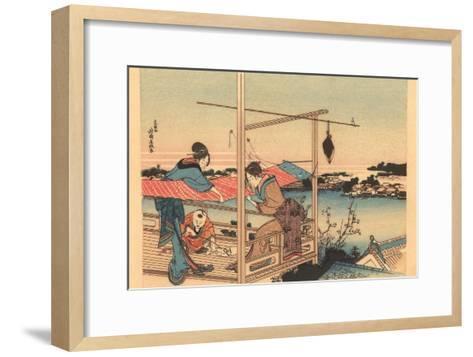 Japanese Woodblock, Fishing--Framed Art Print