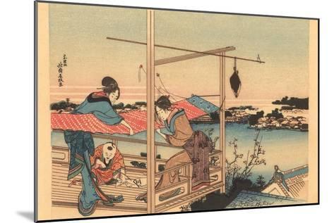 Japanese Woodblock, Fishing--Mounted Art Print