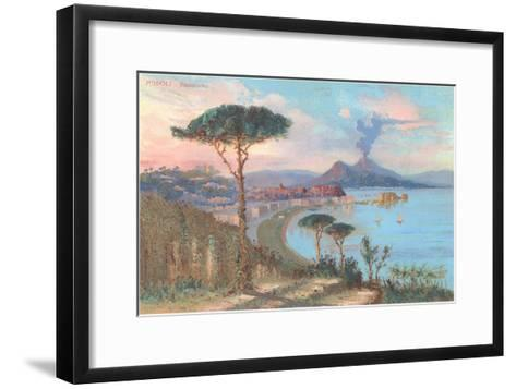 View of Bay of Naples, Italy--Framed Art Print