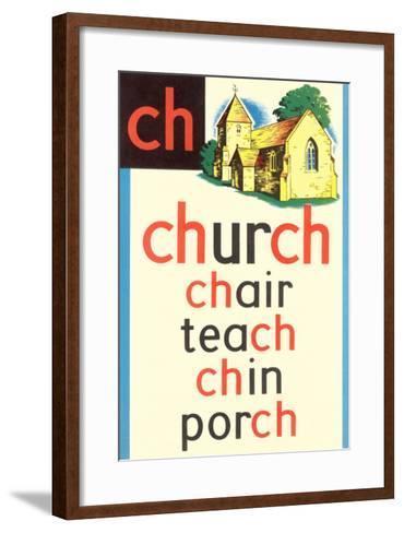CH for Church--Framed Art Print