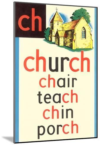 CH for Church--Mounted Art Print