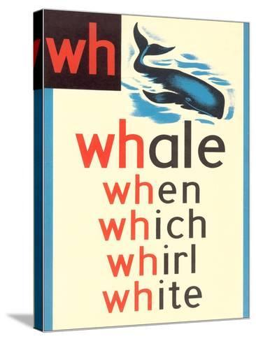 WH for Whale--Stretched Canvas Print