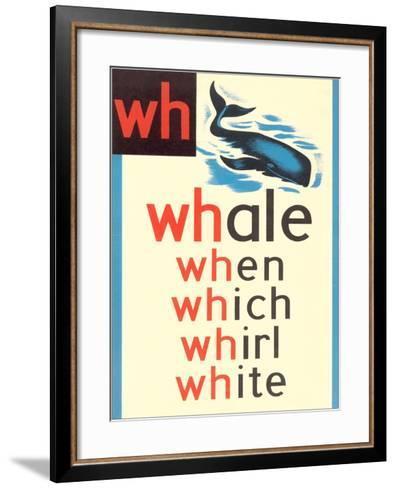 WH for Whale--Framed Art Print