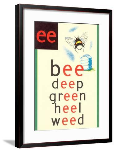 EE in Bee--Framed Art Print