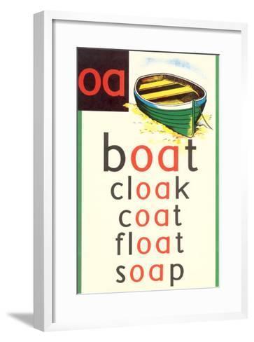 OA in Boat--Framed Art Print