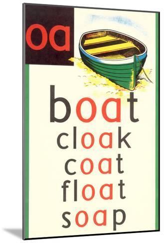 OA in Boat--Mounted Art Print