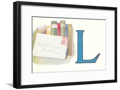 L, Letter to Santa Claus--Framed Art Print