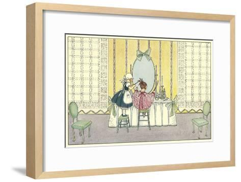 Pretend Beauty Salon--Framed Art Print