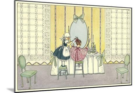 Pretend Beauty Salon--Mounted Art Print
