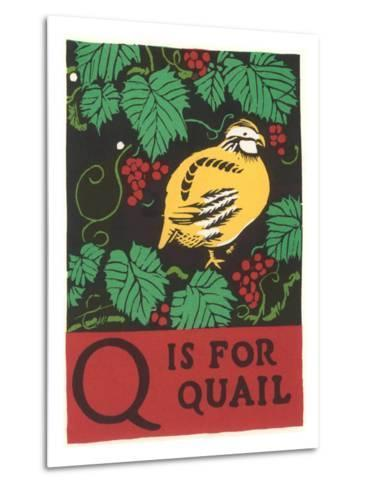 Q is for Quail--Metal Print