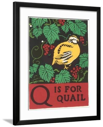 Q is for Quail--Framed Art Print