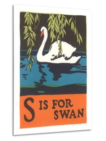 S is for Swan--Metal Print