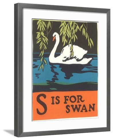S is for Swan--Framed Art Print