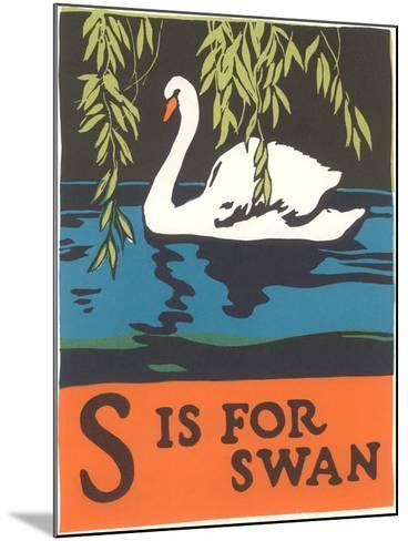 S is for Swan--Mounted Art Print