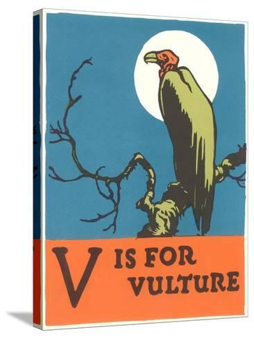 V is for Vulture--Stretched Canvas Print