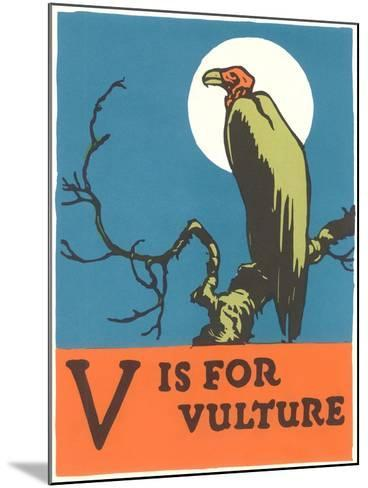 V is for Vulture--Mounted Art Print