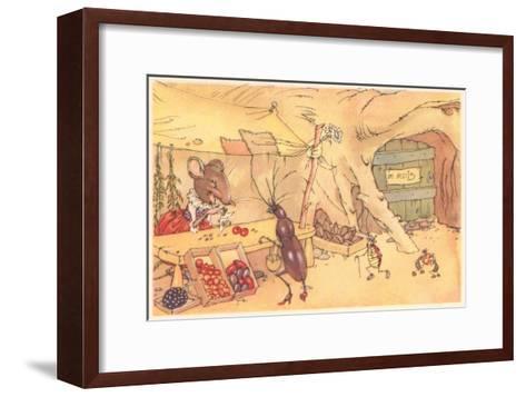 Mouse's General Store--Framed Art Print