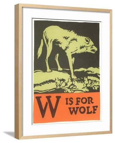 W is for Wolf--Framed Art Print