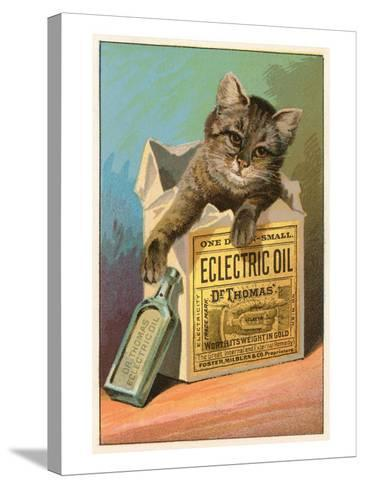 Cat with Eclectric Oil--Stretched Canvas Print