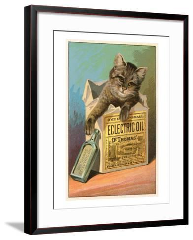 Cat with Eclectric Oil--Framed Art Print