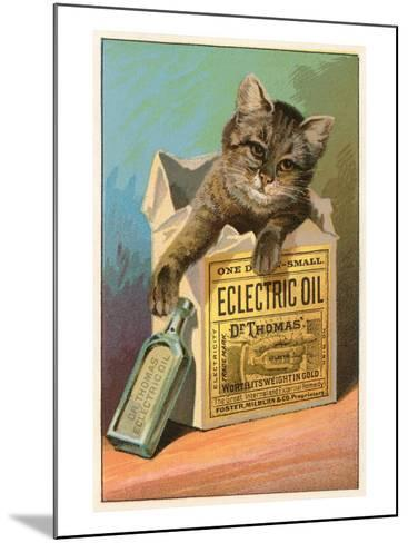 Cat with Eclectric Oil--Mounted Art Print