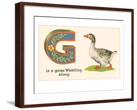 G is a Goose--Framed Art Print